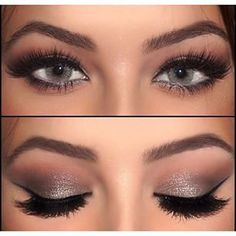 Shimmery eye look with a warm gradient. Perfect for a fancy dinner or night out!   @thebeautyspotqld   #clairetaylormua