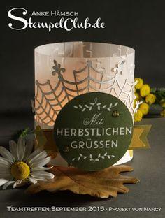 Herbstdekoration - Teelichter mit Stampin' Up! ~ Stempelclub Leipzig - mit Stampin' Up!® Zwischen den Zweigen, Autumn, Herbst, Among The Branches, Halloween
