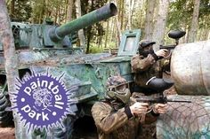 Paintballing For Five (£10), Ten (£15), Fifteen (£19), or Twenty (£25) People Plus 100 Paintballs, Smoke Bomb, and Lunch at Paintball South (Up to 88% Off)