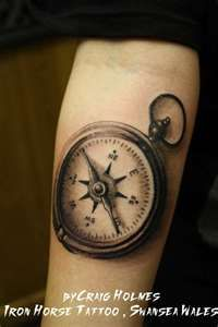 Nautical Compass Tattoo,  I like the idea that he is my compass and I will always find my way home to him