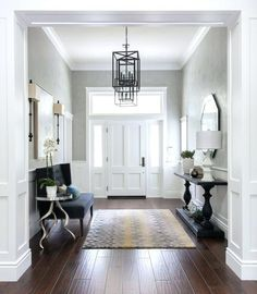 45 Amazing Ideas Small Front Entryway Decor 76 Foyer Furniture Small Couch and Console Table House Of Turquoise Gilmore Design Studio 9 Entrance Foyer, Entry Hallway, House Entrance, Entryway Decor, Entryway Ideas, Hallway Ideas, Entrance Ideas, Entryway Lighting, Modern Entryway