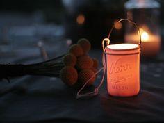 DIY Idea ::  paint a mason jar, add handle, put a tea light      ( Kerr Votive Lanterns by Pigeon Toe :: https://opensky.com/p/alt?osky_origin=hsy_source=type129_rdrct=lulupowers/product/kerr-votive-lanterns-by-pigeon-toe=type129=HardPin=Pinterest  )