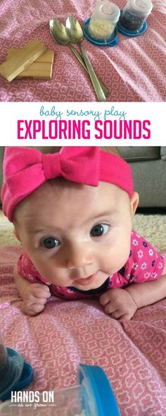 Sensory play for babies is so important. Explore sounds and patterns with your baby with this simple and fun sensory activity!