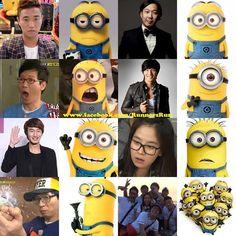 Kim Jong Kook - Running Man and Minions Running Man Funny, Running Man Cast, Running Man Korean, Korean Tv Shows, Korean Variety Shows, Running Man Members, Monday Couple, Kim Jong Kook, Kwang Soo