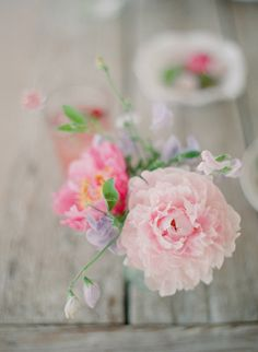 Pretty pink summer flowers