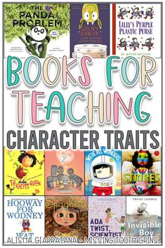 These books are the perfect mentor texts to teach main character and character traits in the primary grades. Students in kindergarten, first, and second grade will enjoy these picture books to learn about character. 4th Grade Reading, Kids Reading, Teaching Reading, Guided Reading, Teaching Ideas, Character Traits Activities, Character Traits For Kids, Character Education Lessons, First Grade Books