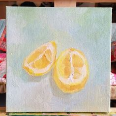original oil painting of lemons created by saori sold at etsy @fuselama Photos on Instagram