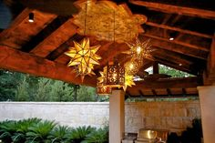 To use as drop lights (instead of pendant lights) in our Modern Mexican kitchen...