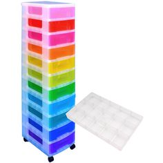 Really Useful Rainbow Storage Tower And Compartment Tray Bundle | Hobbycraft