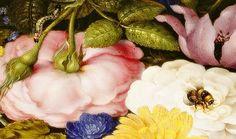 Flower Still Life, Details. by Ambrosius Bosschaert, 1614