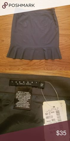 """Laundry by Shelli Segal Skirt NWT Laundry by Shelli Segal skirt, color is gray and size 12. Measurements laying flat: 18"""" waist and 21"""" length. Fabric: 67% rayon, 39% polyester, 4% spandex, 100% acetate lining. Laundry By Shelli Segal Skirts"""