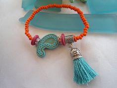 SALE-- PAISLEY BOHEMIAN Bracelet - Gypsy inspired bracelet on Etsy, $12.99