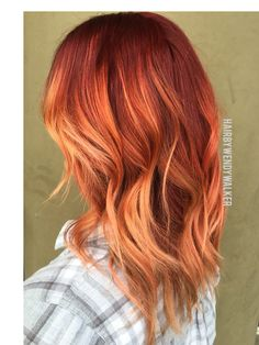 Red rose gold balayage wendy walker. 2016 fall hair color trends. balayage…
