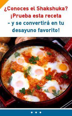 ¿Conoces el Shakshuka? ¡Prueba esta receta - y se convertirá en tu desayuno favorito! #shakshuka #desayuno #huevos #cocinar #verduras #facil #rico