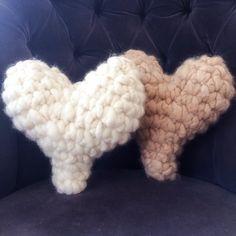 Alpaca Heart Pillowed Super Chunky Crochet by JwrobelStudio