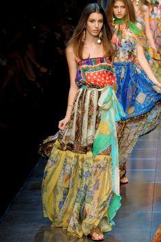 Dolce& Gabbana floral scarf dresses