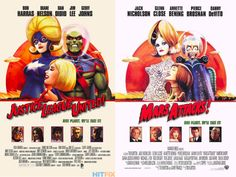 Mars Attacks! Your Favorite DC Superheroes, Drawn Into Famous Movie Posters