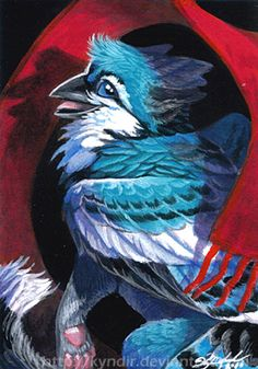 ACEO- Blue by Kyndir on DeviantArt