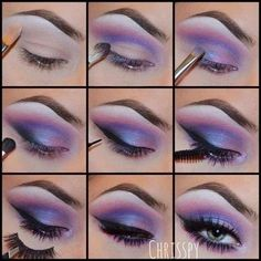 Beautiful Purple Eye Makeup Eyeshadow Tutorial Summer Eyeshadow Looks BEAUTIFUL Eye Eyeshadow Makeup Purple tutorial Eye Makeup Glitter, Purple Eye Makeup, Purple Eyeshadow, Eyeshadow Makeup, Eyeshadow Palette, Makeup Brushes, Makeup Remover, Eyeshadow Designs, Eyeshadow Ideas