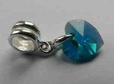 December birthstone charm, blue topaz
