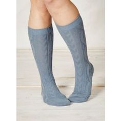 Orkney Organic Cotton Cable Socks by Braintree