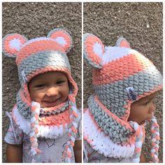 Ručně háčkované čepičky na zakázku ... Cute Crochet, Knit Crochet, Crochet Hats, Booties Crochet, Crochet Cardigan, Loom Blanket, Kids Hats, Crochet Blanket Patterns, Craft Fairs