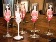 Bridesmaid Champagne Flutes by My Sister's Boutique via Heather Renee Celebrations