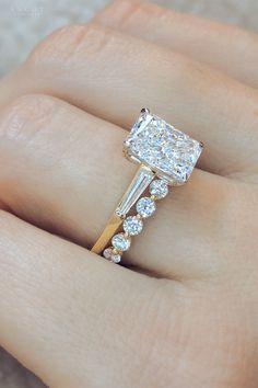 Our unique morganite engagement ring set is handmade in expert detail. This rose gold ring set features a luxurious morganite engagement ring with floral accents along either side of the band. Radiant Engagement Rings, Baguette Engagement Ring, Dream Engagement Rings, Morganite Engagement, Engagement Ring Cuts, Vintage Engagement Rings, Emerald Cut Diamond Engagement Ring, Baguette Ring, Morganite Ring