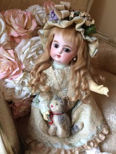 MOTHERS-DAY-ANTIQUE-FRENCH-DOLL-EDEN-BEBE-LOOKS-LIKE-GAULTIER-FG-PERFECT-sAle