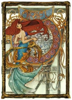 The Disney Princesses In Art Nouveau