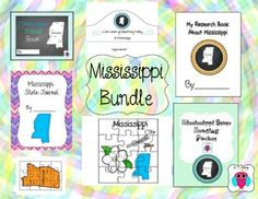 This is a set of 7 Mississippi themed teaching resources that include puzzles, a graduation hat, a travel journal, a reading packet and a research book.  For more descriptions please see individual listings by typing AJ Bergs and the state in the search engine.Designs Font: TeachtoTell https://www.teacherspayteachers.com/Store/Teachtotell