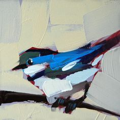 Cerulean Warbler no. 52 bird limited edition print by Moulton 5 x 5 inches on paper prattcreekart