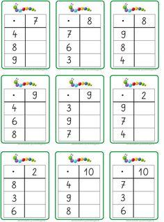 hier jetzt die entsprechenden Übungskärtchen für die Multiplikation... LG Gille Schrift: Grundschrift Will Software Bild: Andre...