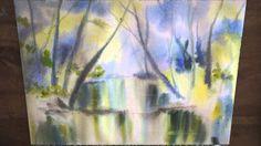 Démo aquarelle : La rivière - mouillé sur mouillé  en  temps réel (wet o...