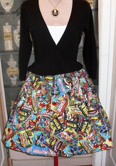 Marvel Comic Book Covers cupcake skirt