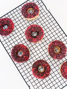 Baked by Billie is known for her delectable donuts. These vanilla donuts with chocolate frosting and pink sprinkles are no exception. If you want yummy homemade donuts in Raleigh, North Carolina than you have to see Billie.