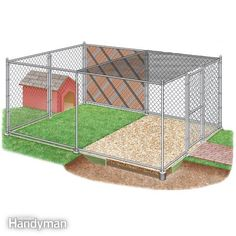 How to Build Chain Link Outdoor Dog Kennels Dog Kennel Plans & Considerations — DIY Dog Pen House Dog, Dog Houses, Canis, Dog Kennel Designs, Kennel Ideas, Dog Backyard, Backyard Ideas, Backyard Privacy, Outdoor Ideas