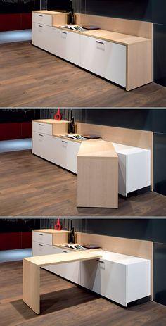 Mueble de cocina con barra