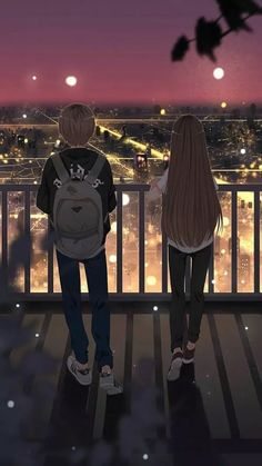 grafika anime, boy, and girl Issues discovering anime? If you would like begin with anime Cute Couple Drawings, Anime Couples Drawings, Cute Couple Art, Anime Couples Manga, Cute Anime Couples, Sweet Couple, Fille Blonde Anime, Art Anime Fille, Anime Art Girl