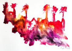 Palm trees on fire - an impression of the Thomas Fire in Ventura CA #californiawildfires #wildfire  . . . #art  #artist #painting #watercolor #abstract #color #artoftheday #ratedmodernart #californiaartist #gaylemidnight #watercolorpainting #creativemamas #create #artislife #contemporaryart #modernart #abstractart #design  #california #losangeles #artgallery #palmtrees