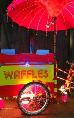 Waffle carts - fab dessert at any party for kids and grown ups alike.  ref IB