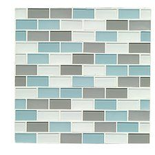 """Shoreline 0.94"""" x 1.88"""" Glass Mosaic Tile in Clearwater"""