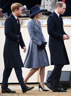 Prince Harry joins the Duke and Duchess of Cambridge - March 2017