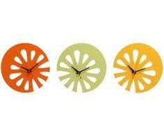 Citrus kitchen clocks - made of recycled detergent bottles