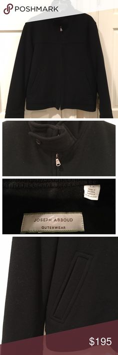 NWOT Men's Joseph Abboud Jacket NWOT Men's Joseph Abboud Jacket Dark Navy Zipper Closure Button and Tab at Neck and Sleeves Front Pockets 2 Inside Pockets / 1 with a Zipper Closure Quilted Lining Size Small Shell: 80% Wool/ 20% Nylon Lining: 100% Polyester Beautiful Jacket!! Joseph Abboud Jackets & Coats