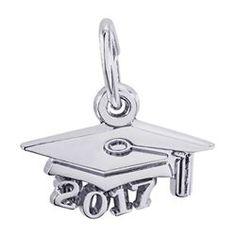 5508f9e5b Rembrandt Grad Cap 2017 Charm #6747. Silver Graduation Charm Grad Cap,  Rembrandt,