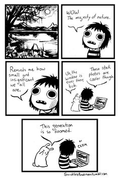 sarahseeandersen doodle time wow the majesty of nature this generation is doomed