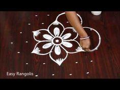 Simple Diwali Rangoli with 7 dots Easy Rangoli Designs Diwali, Best Rangoli Design, Colorful Rangoli Designs, Beautiful Rangoli Designs, Kolam Designs, Simple Rangoli, Autumn Lake, Rangoli With Dots, Creative Video
