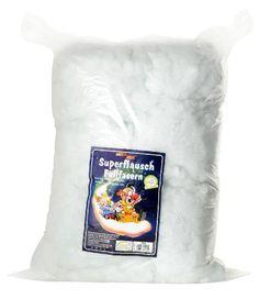 Füllwatte, 1 kg, weiß, Bastelwatte, Stopfen Füllen Basteln, Bären Puppen Kissen