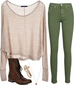 """""""earthy outfit"""" by madisonweezys ❤ liked on Polyvore"""